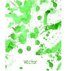 green watercolor splashes vector image