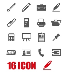 grey notes icon set vector image