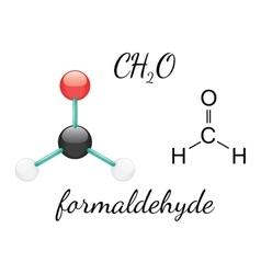 H2CO formaldehyde molecule vector