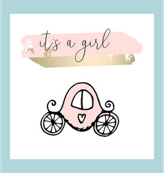 hand drawn of baby shower design vector image