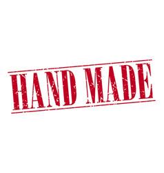 Hand made red grunge vintage stamp vector