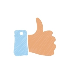 Hand thumb up vector