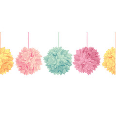 Hanging pastel colorful birthday party vector