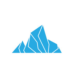 ice mountain icon design template isolated vector image