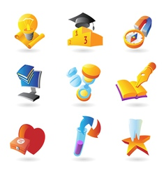 Icons for science and education vector image