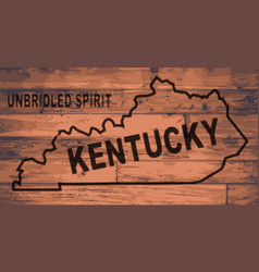Kentucky map brand vector