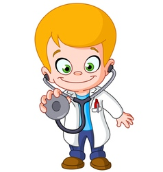 kid doctor vector image