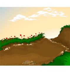 Landscape cartoon background vector image vector image