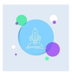 launch mission shuttle startup publish white line vector image