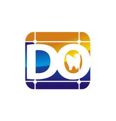 Letter do digital orthodontics vector