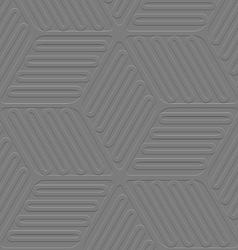 Lines and ovals gray embossed seamless vector