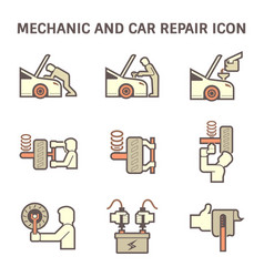 Mechanic car icon vector