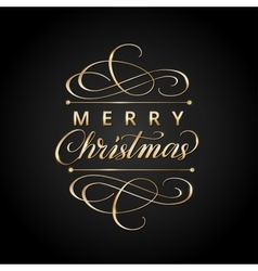 Merry christmas card with typographic design vector image vector image