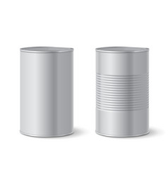 metallic tin can vector image