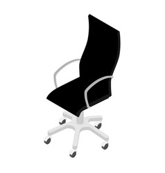 modern black office chair isolated on white vector image