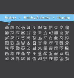 modern of thin line white icons set for business vector image