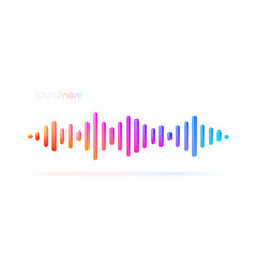 Multicolored sound wave equalizer vector