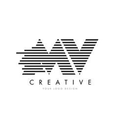 mv m v zebra letter logo design with black and vector image