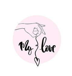 My love calligraphy for typography vector