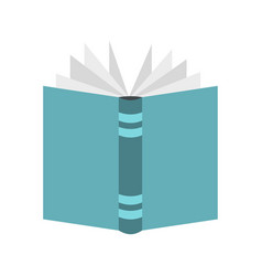 open thick book icon flat style vector image