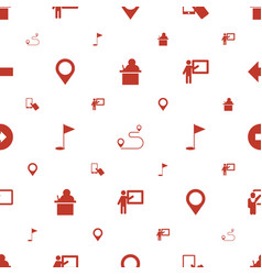 Pointer icons pattern seamless white background vector