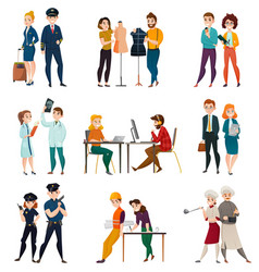 Professional occupation people set vector