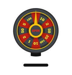 Roulette wheel icon flat style vector