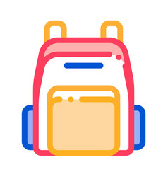 rucksack icon outline vector image
