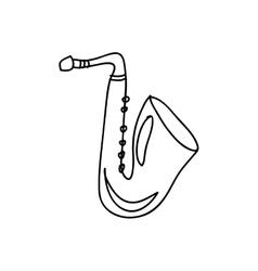 Saxophone instrument icon image vector