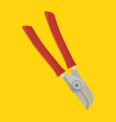 Scissors gardening isolated icon vector