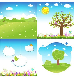 Set Cartoon Landscape vector image
