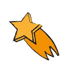 Shooting star icon vector