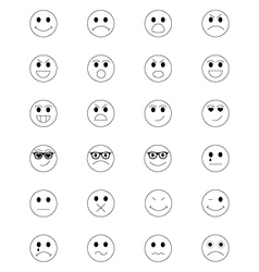 Smiley Line Icons 1 vector image