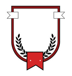 Sport emblem with wreath vector