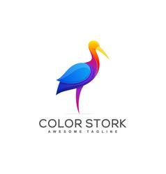 Stork concept template vector