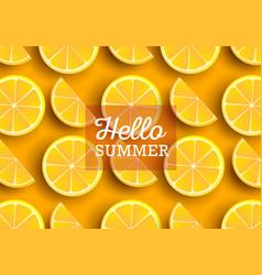 Summer background with slices orange or lemon vector