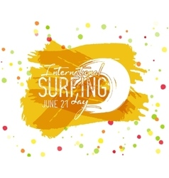 Surfing day label graphic elements vector