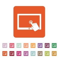 The touch screen icon Tablet symbol Flat vector image