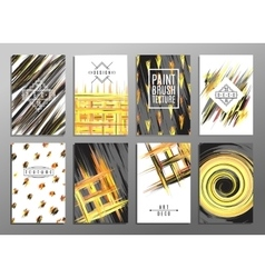 Trendy creative hand drawn cards collection with vector image