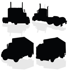 truck black silhouette vector image