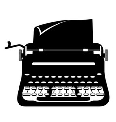 Typewriter old retro vintage icon stock vector