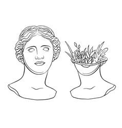 Venus de milo s head vector