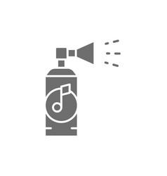 Vuvuzela sport trumpet gray icon isolated on vector
