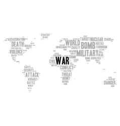 War word cloud vector image