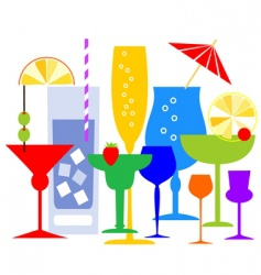 cocktail illustration vector image vector image
