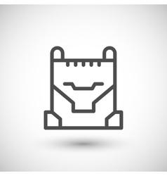 Concrete bucket line icon vector image vector image