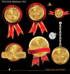 gold medals set vector image vector image