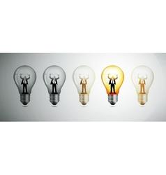 Light bulb The concept of idea vector image vector image