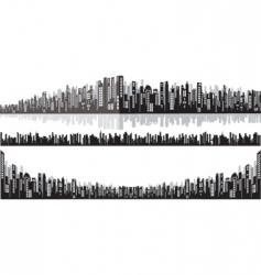 panorama cityscape vector image vector image
