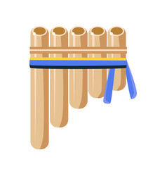 Panpipes flute musical instrument native american vector
